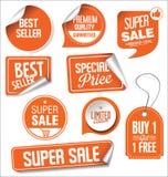 Samling för illustration för Sale klistermärkevektor Royaltyfri Fotografi