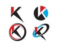 Samling för K-bokstavslogo Royaltyfri Fotografi