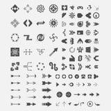 Samling för logovektorpil vektor illustrationer