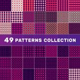 samling för 49 modeller stock illustrationer