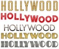Samling för ord för Hollywood stort festtältfars royaltyfri illustrationer