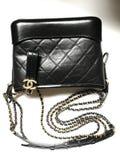 Samling för påse för Chanel chanelgabrielle i svart mini- format arkivbild