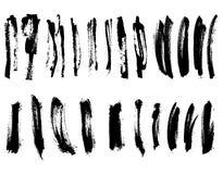 Samling för slaglängd för detaljborstemålarfärg vektor Fotografering för Bildbyråer