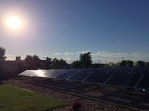 Samling för sol- cell Arkivbild