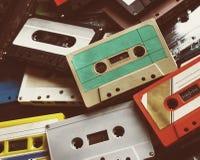 Samling för stil för tappning för kassettband Royaltyfri Bild