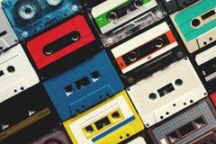 Samling för stil för tappning för kassettband Royaltyfria Bilder