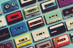 Samling för stil för tappning för kassettband Arkivbild