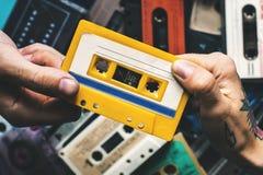 Samling för stil för tappning för kassettband Arkivbilder