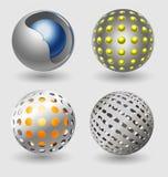 Samling för symbol för silverbollaffär Royaltyfri Fotografi