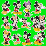 Samling för tecknad film för Disney mickeymus Arkivbild