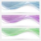 Samling för titelrad för Swooshhastighetsvåg crystal Arkivfoton