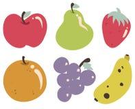 Samling för tropiska frukter Royaltyfria Bilder