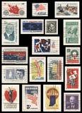 Samling för USA 60-talstämpel Arkivbild