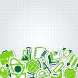 Samling för utbildningsskolasymbol Arkivbild