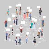 Samling för yrke för arbetare för uppsättning för folkgruppConncetion olik ockupation stock illustrationer