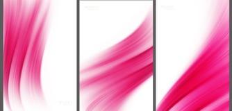 Samling för abstrakt bakgrund för rosa färger tekniskt avancerad Arkivbilder