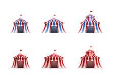Samling för cirkustält Fotografering för Bildbyråer