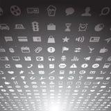 Samling för symboler för rengöringsdukapplikation Arkivbild