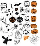 samling halloween Royaltyfri Bild