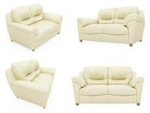 samling isolerade sofas stock illustrationer