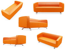 samling isolerade sofas vektor illustrationer