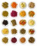 samling marinated grönsaker Arkivbild