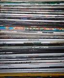 samling registrerad vinyl Royaltyfria Bilder