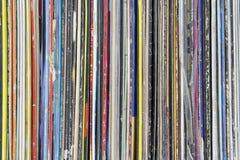 samling registrerad vinyl royaltyfri bild