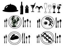 samling som fine dinning royaltyfri illustrationer