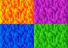Samling uppsättning av moderna bakgrunder, texturer vektor illustrationer