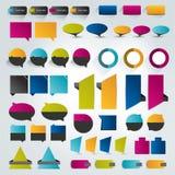 Samlingar av beståndsdelar för infographicslägenhetdesign stock illustrationer