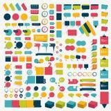 Samlingar av beståndsdelar för infographicslägenhetdesign Arkivbilder
