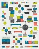 Samlingar av informationsdiagram vektor illustrationer