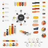 Samlingar av informationsdiagram stock illustrationer