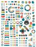 Samlingar av mallen för infographicslägenhetdesign stock illustrationer