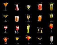 Samlingen av alkoholcoctailar arkivbild