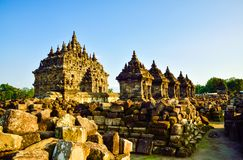 Samlingen av fördärvar av den medeltida templet för den traditionella gamla arvstenen i East Asia i ett arkeologiskt komplex royaltyfria bilder