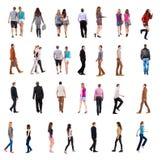 Samlingen av folk drar tillbaka sikt Fotografering för Bildbyråer
