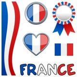Frankrike fransk patriotisk uppsättning Royaltyfri Fotografi