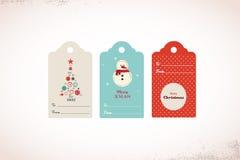 Samlingen av gulligt ordnar till för att använda julgåvan Royaltyfri Fotografi