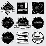 Samlingen av högvärdiga och högkvalitativa och garantietiketter planlägger Royaltyfri Fotografi