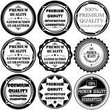 Samlingen av högvärdiga och högkvalitativa och garantietiketter planlägger Royaltyfria Foton