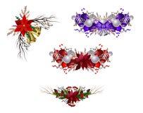 Samlingen av jul planlägger beståndsdelar som isoleras på vit bakgrund royaltyfri illustrationer