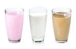 Samlingen av mjölkar Arkivbilder