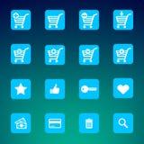 Samlingen av olikt e-shoppar symboler Royaltyfri Foto