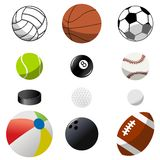 Samlingen av sporten klumpa ihop sig stock illustrationer