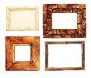Samlingen av trä inramar Royaltyfri Fotografi