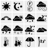 Fastställda vädersymboler Royaltyfria Foton