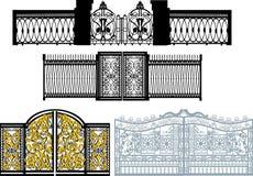 samlingen gates white vektor illustrationer