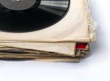 samlingen isolerade register använde vinylwhite royaltyfria bilder